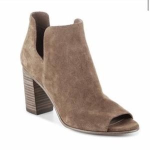 Steve Madden Nello Suede Leather Booties Taupe Tan